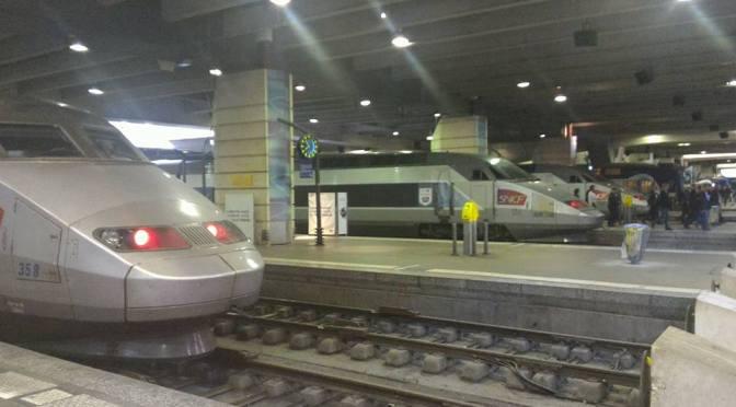TGV High Speed Train from Paris to Lourdes, France 2016