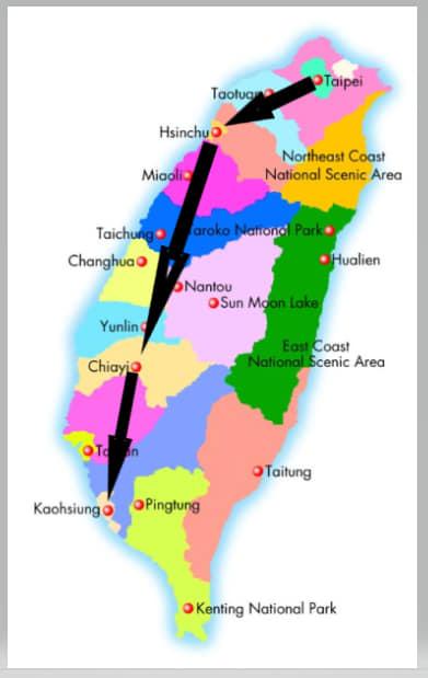 TAIWAN   7-DAY (Do-IT-Yourself) Itinerary from NORTH to SOUTH of Taiwan (Taipei-Chiayi-Kaoshiung)